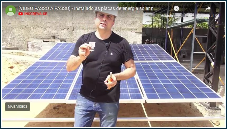 video como instalar placas de energia solar