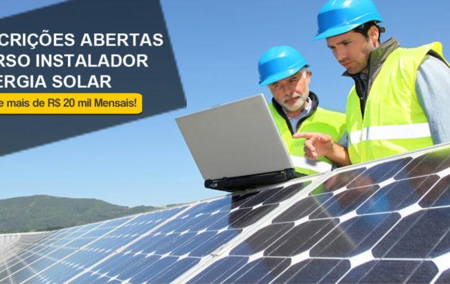 Novas Turmas para o Curso Instalador Solar de Alta Performance