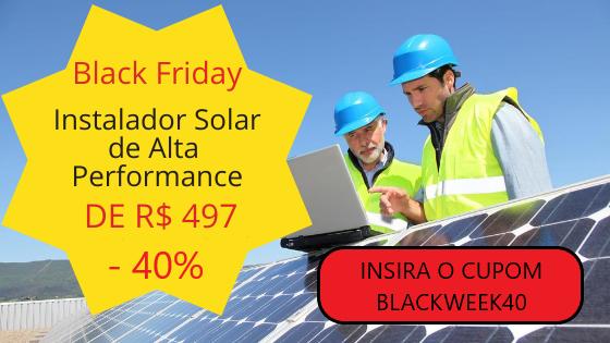 Black Friday Curso Energia Solar